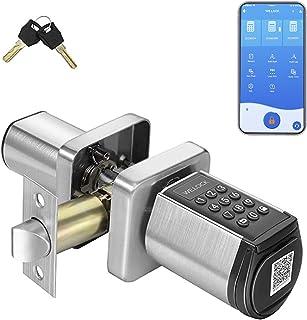 قفل هوشمند WE.LOCK ، قفل درب ورودی بدون کلید با بلوتوث ، قفل درب با صفحه کلید ، قفل خودکار قفل درب دیجیتال با APP برای درب های داخلی گاراژ هتل در منزل