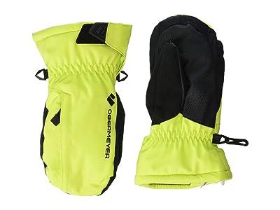 Obermeyer Kids Gauntlet Mitten (Little Kids/Big Kids) (Limelight) Extreme Cold Weather Gloves