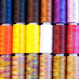 Fiesta Mix Iris 2-474 Nylon Crochet Thread 300-Yard