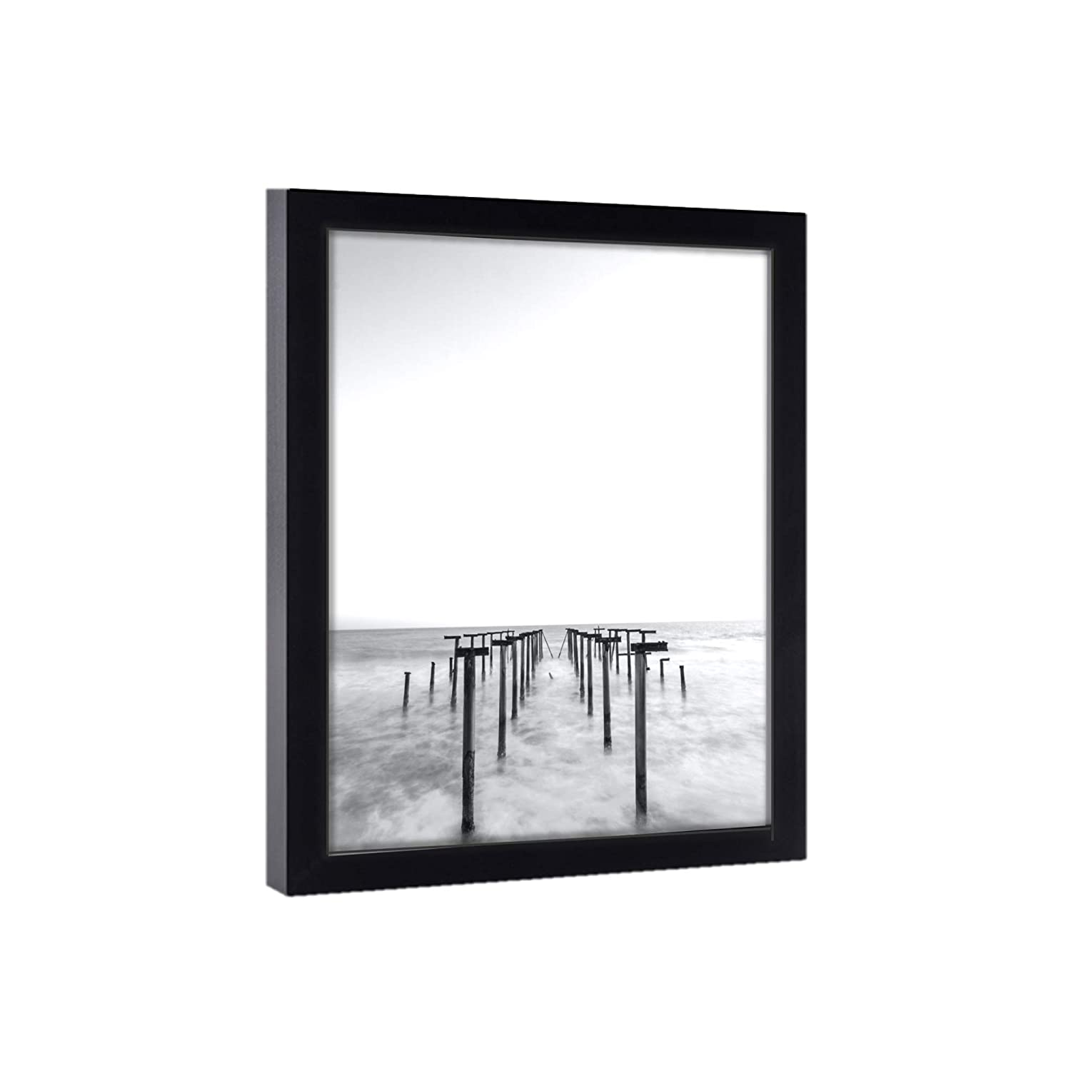 23x39 Black Picture Frames - lowest Free shipping on posting reviews price Ready Hang Wood Poste Pine Solid to