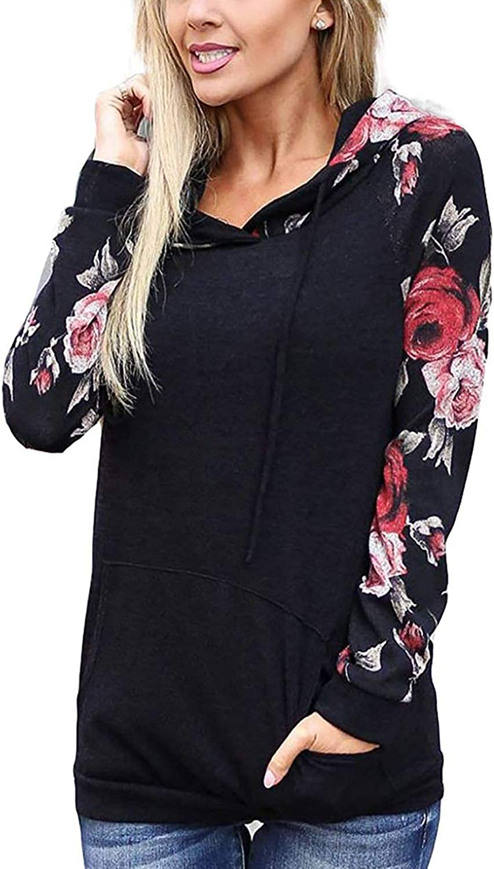 AMiERY Women's Hoodie Sweatshirts Casual Sport Tops Fashion Long Sleeve Tie Dye Hoodies with Pockets