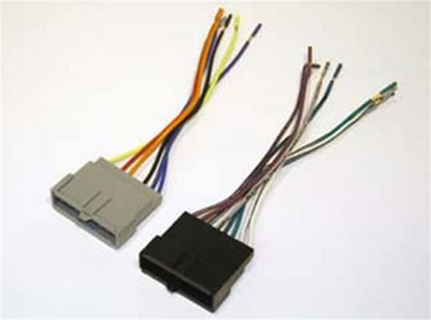 Amazon.com: SCOSCHE FD02B Car Speaker Wiring Harness Aftermarket Stereo  Connector for Select 1986-2004 Ford Vehicles: Car Electronics | Ford Factory Radio Wiring Harness 2004 |  | Amazon.com