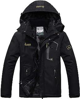 Chaqueta Impermeable para Hombres Chaqueta Polar de Invierno Cálida Chaqueta de esquí A Prueba de Viento Bolsillos múltiples