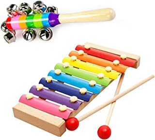 Campanas De Mano Jingle Instrumento Musical Juguete Niños Niños Coctelera Percusión Agitar