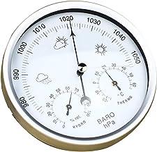 yotijar Higrómetro de Temperatura Barométrica para Estación Meteorológica 132THB - blanco plateado