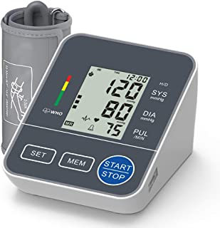 OIIKURY Blood Pressure Monitor Upper Arm for Home Use Automatic Digital BP Machine with Wide-Range Cuff 22-42cm, Self Reading Speaker, 2x120 Recordings, Large Display