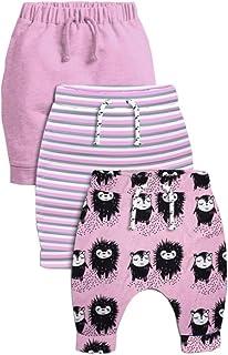 CuteOn 3 Pack Unisexe des Gamins Bambin Harem Pantalon Coton /Élastique Trousers