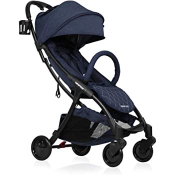 Lightweight Baby Stroller, 2020 Beberoad R2 Version 3 Quick-Fold Super Compact Travel Stroller with Extra-Large Waterproof and UV 50+ Canopy, All Wheels Suspension, Apply to The 0-36months (45LBS)