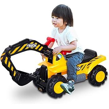 RiZKiZ ショベルカー おもちゃ のりもの 砂場 ごっこ 遊び クレーン ハンドル操作 乗用玩具 足蹴り 軽量