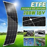 RVボートホーム屋根のキャンプのための柔軟なソーラーパネル、200W 18V太陽電池モジュールのケーブルカー、ソーラー充電器、