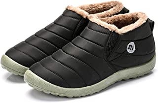 bolomee Women Men Super Warm Snow Boots Ankle Bootie Water Resistant Shoes