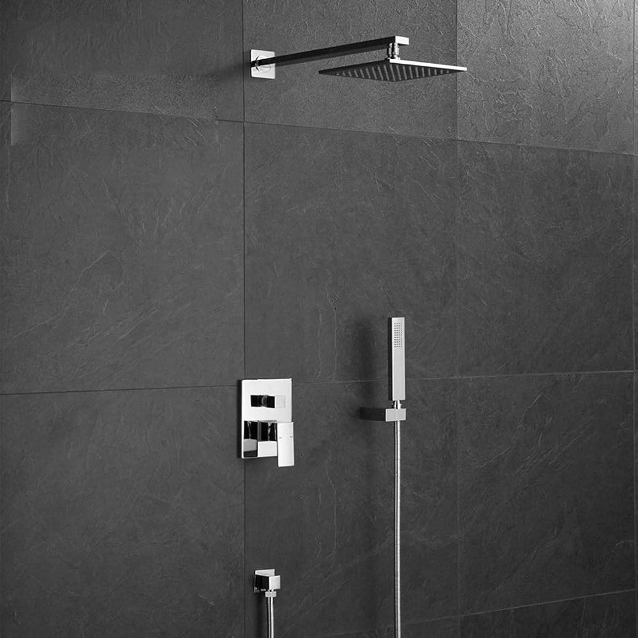 またはどちらかエンディング単なるZY-YY 壁掛けホット&コールド広場ハンドヘルドシャワーシャワーセット天井スカイカーテンがバルブ美しい実用的なミキシングシャワーの蛇口シャワー
