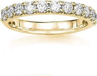 14KT Yellow Gold 1/4 ct G-H SI1/SI2 Machine Set Wedding Rings