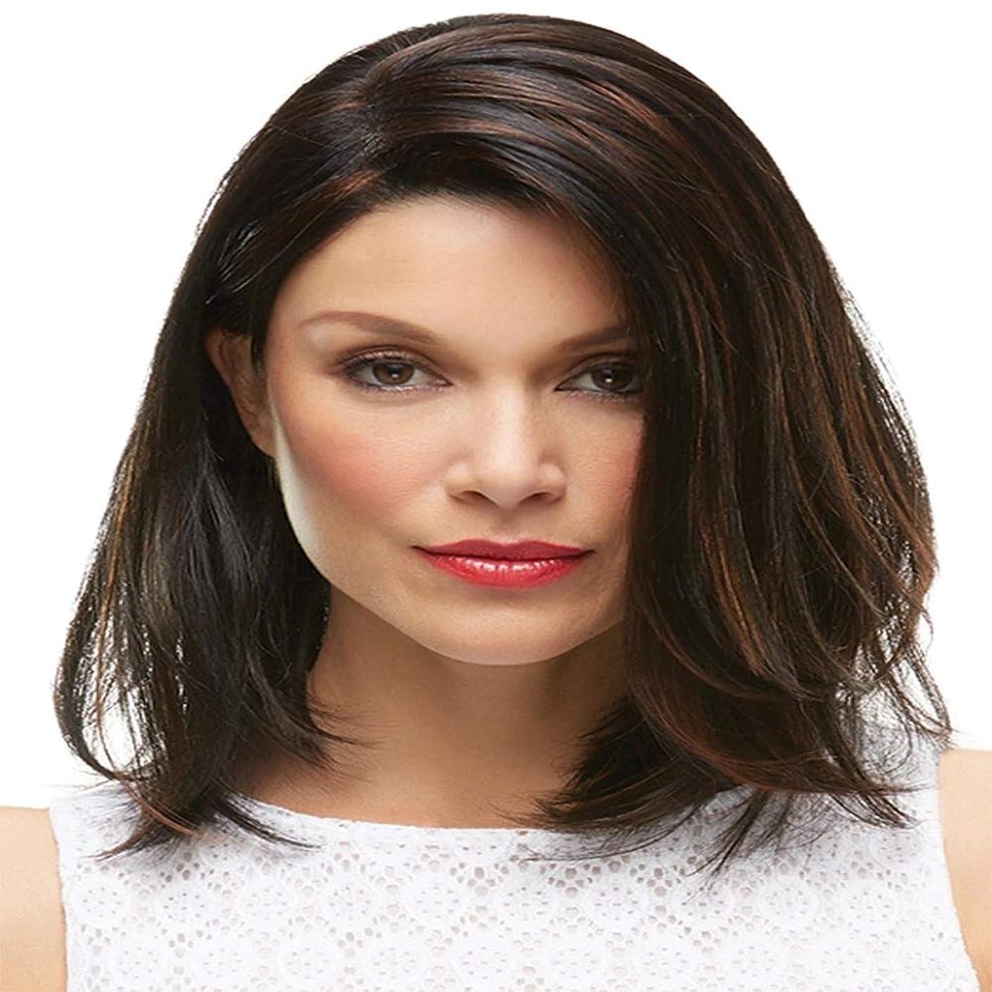 命令的ベースかもめ女性の黒の短い巻き毛のかつら12
