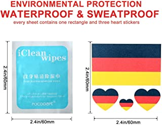 Hengbaixin Environmentally Friendly Waterproof Sweat Russian 2018 Football World Cup Face Stickers Fans Tattoo Stickers (10pcs Australian Flag Tattoo Stickers +1 Pack Wet Wipes)