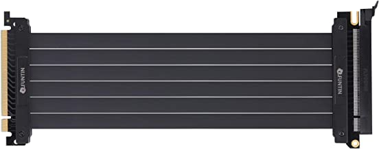 Funtin PCI-E 3.0 x16 Extension Riser Cable, PCI Express Flexible High Speed GPU Riser Extender Card Adapter (30CM, 180°)