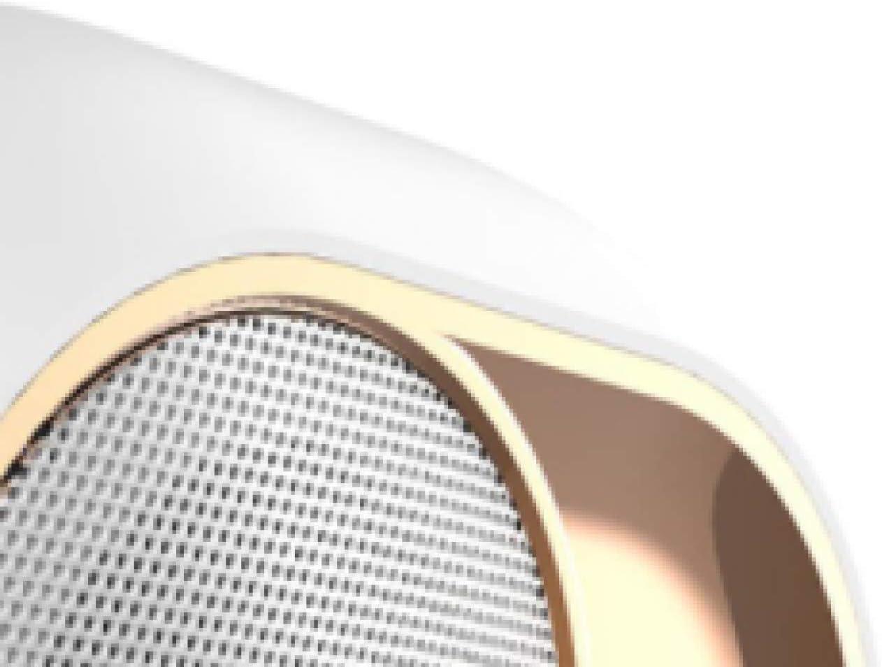 Radio r/éveil Enceinte Bluetooth,SUAVER Sans fil Haut Parleur R/éveil /électronique R/éveil num/érique Main libre Radio FM,TF,Temp/érature,date Blanc-1