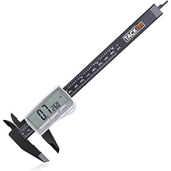 Digital Caliper 6 Inch with Larger LCD Display, Inch/Fractions/Millimeter Conversion for Small DIY and Homework, Coin Battery Included