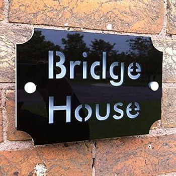 Plaque Plaque de maison personnalisée adresse Maison Numéro de porte nom de  rue fabriqué sur mesure