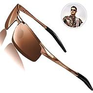 ROCKNIGHT Driving Polarized Sunglasses for Men UV Protection Ultra Lightweight Al Mg Golf Fishing...