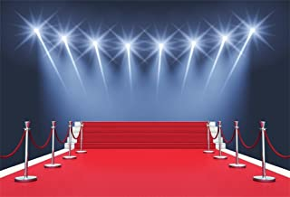 AOFOTO 8x6ft Stage Red Carpet Backdrop Star Catwalks Spotlight Photography Background Cine Film Show Event Celebrity Activity Premiere Award Movie Ceremony Photo Studio Props Party Banner Wallpaper