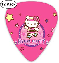 CHLING Pink Hello Kitty Guitar Picks, 12 Pack Abstract Art Colorful Guitar Picks for Guitar Bass