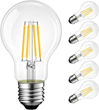 Best A19 LED Vintage LED Filament Bulb E26 Base,LVWIT Dimmable 7W (60W Equivalent),2700K Warm White 800 Lumens,Omnidirectional, UL-Listed, Pack of 6 Reviews