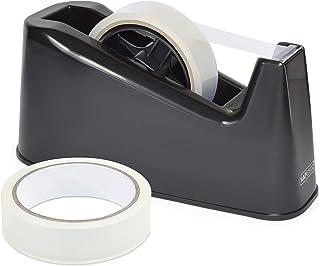 Rapesco 1540 Heavy Duty Dispenser and 2 Tape Rolls, Black