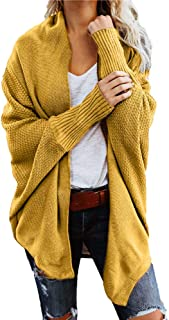 Womens Sweater Casual Knitted Loose Long Sleeve Pullover Coat Open Front Cardigan