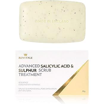 Revitale Advanced Jabón para tratamiento exfoliante con ácido salicílico y azufre: Amazon.es: Belleza