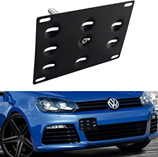 Dewhel Front Bumper Tow Hook License Plate Mount Bracket Holder For Volkswagen MK6 Audi