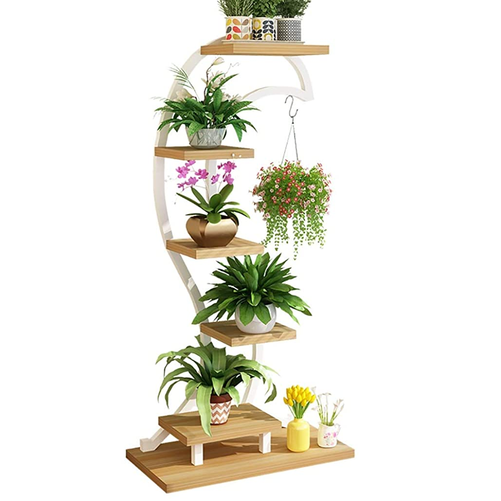 ホストカフェテリア提供されたフラワースタンド フラワースタンド 植物収納ラック アイアンアート 多層 クリエイティブ 屋内 着陸 装飾フレーム プランタースタンド