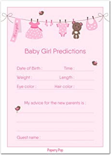 baby prediction cards girl