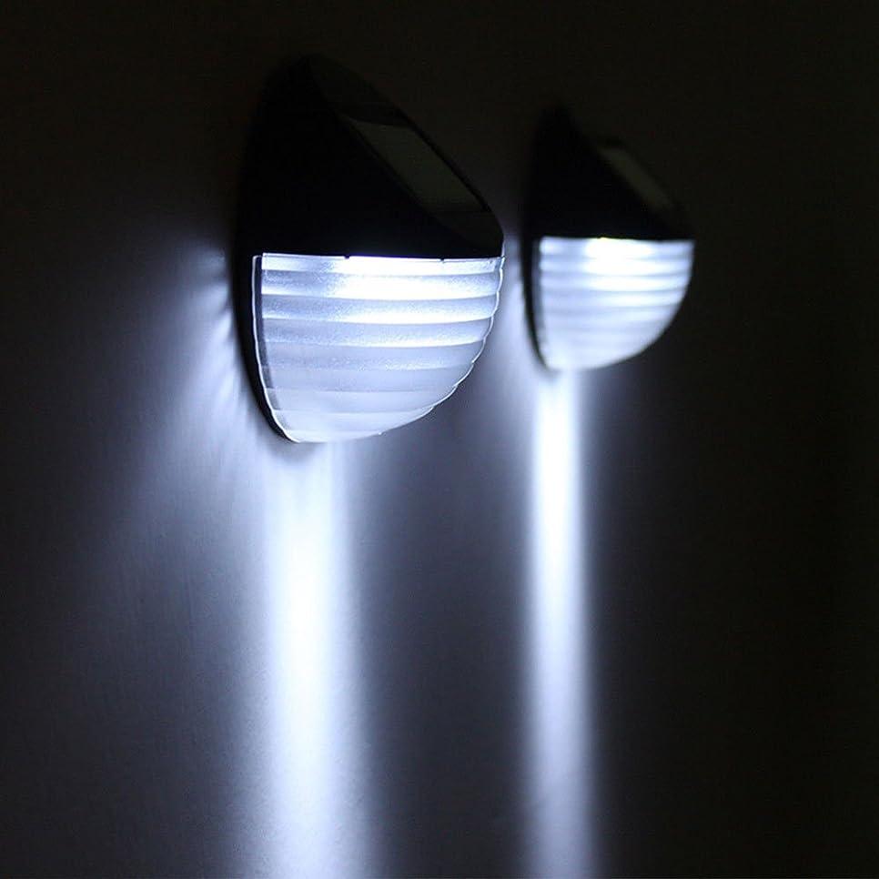 男砲撃見つけたTOPmountain ソーラーパワーウォールライト2 LEDライトコントロールエコフレンドリーな耐久防水セキュリティランプ街灯フェンスライト