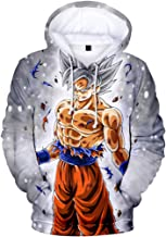 FLYCHEN Boy's Fashion 3D Printed Cartoon Neutral Long Sleeve Show Support to Dragon Ball Hoodies