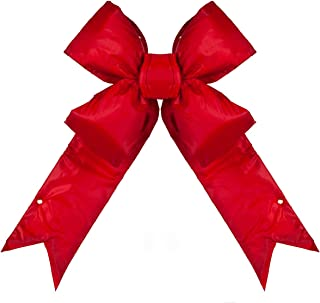 Big Red Bow - Large Outdoor Christmas Bow Commercial Christmas House Decorative Bow (24