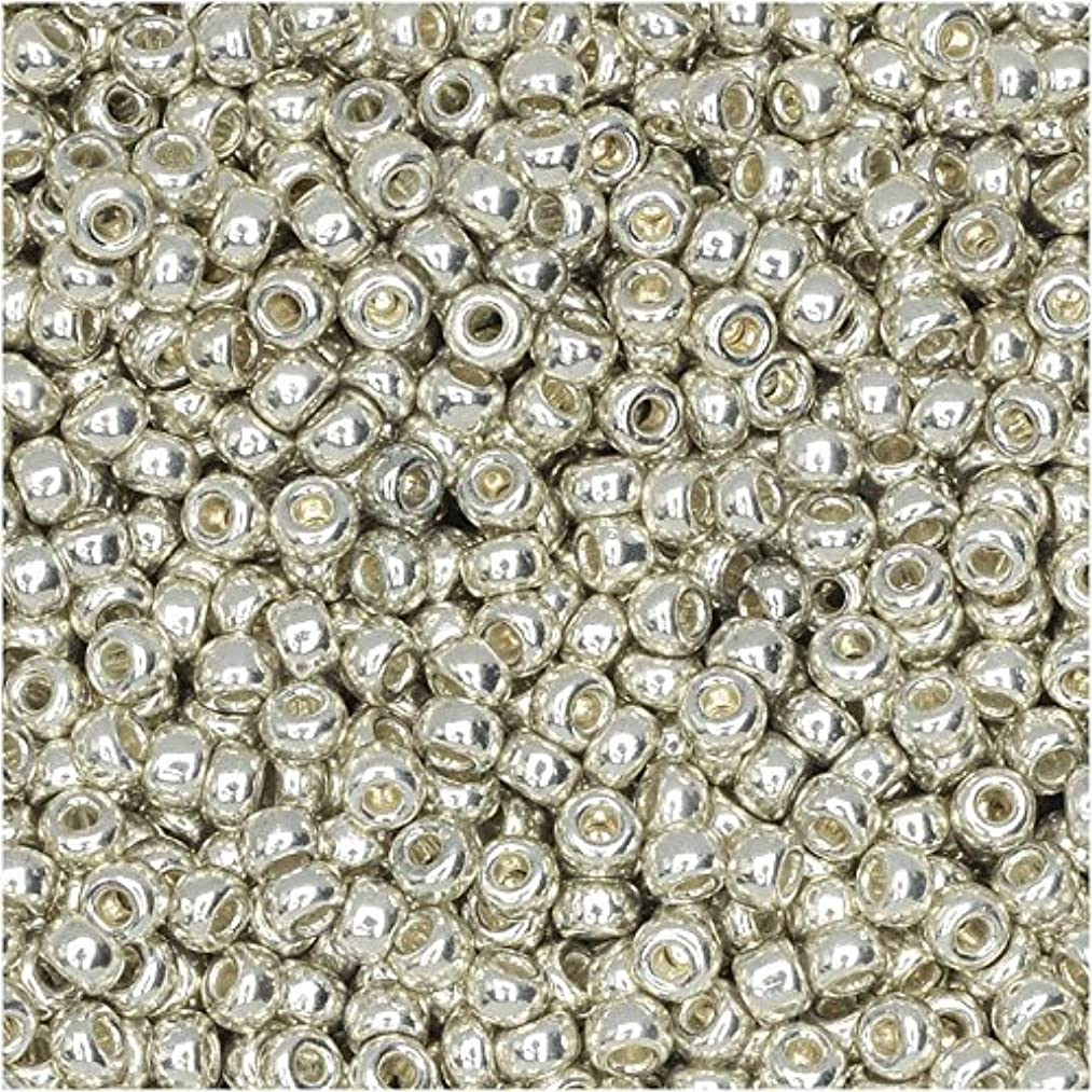 Galvanized Silver Miyuki Japanese round rocailles glass seed beads 11/0 Approximately 24 gram 5 inch tube