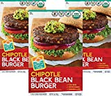Don Lee Farms Organic Chipotle Black Bean Burgers (3 Pack, 3 lb each) - Vegan Patties, All-Natural...