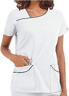 QUINTRA Women Blouse Women Healthcare Doctors Ladies Tops Office Pocket Uniform