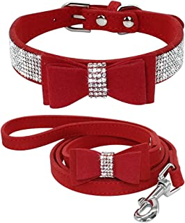red sparkle dog collar