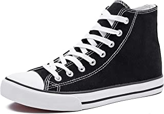 Men's High Top Canvas Sneakers Lace Up Classic Casual...