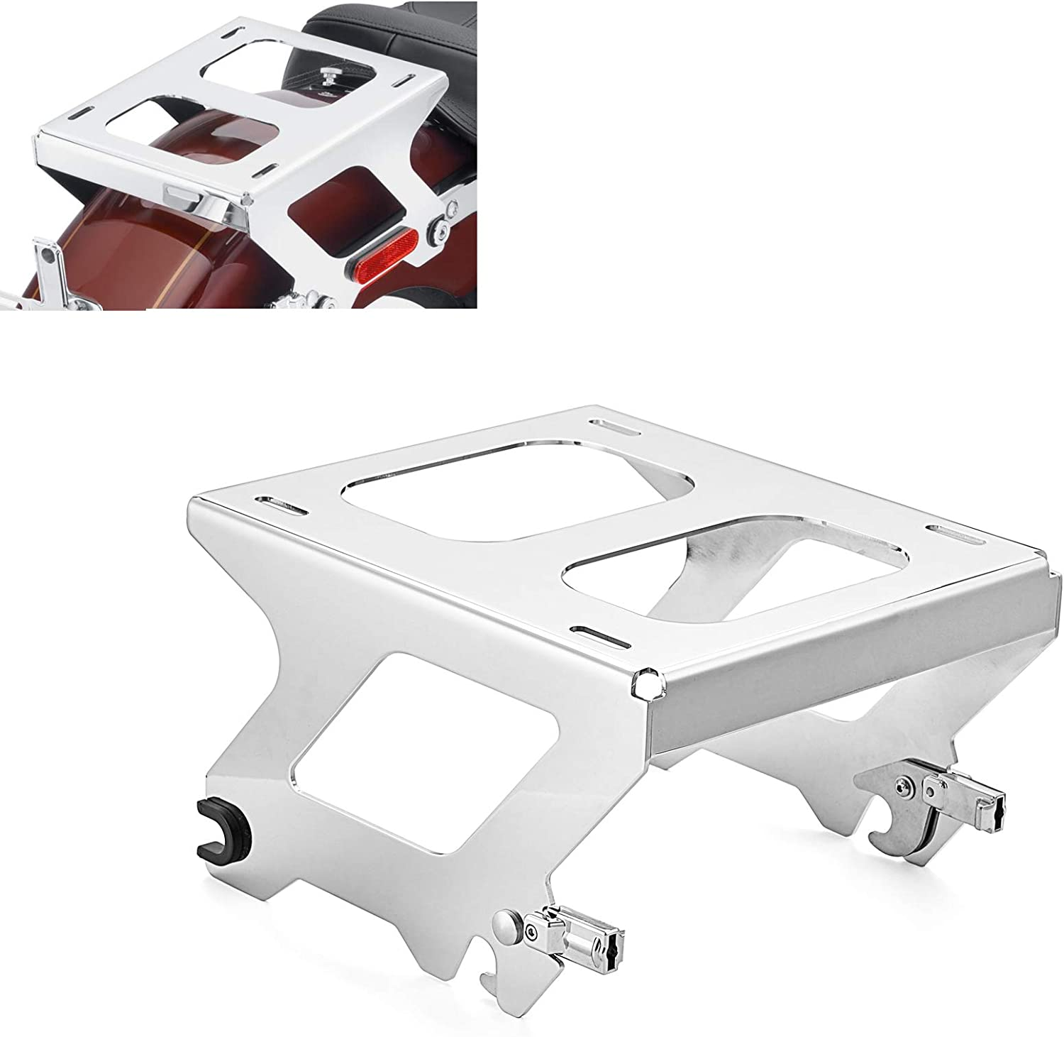 WSays Chrome Solo Tour-Pak Pack Luggage Detachable Las Vegas Mall Rack Mounting Industry No. 1