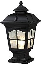 Outdoor Rainproof Column Light UL Electricity Waterproof Stigma Fixtures Villa Courtyard Post Light Square Pillar Lamp Alu...