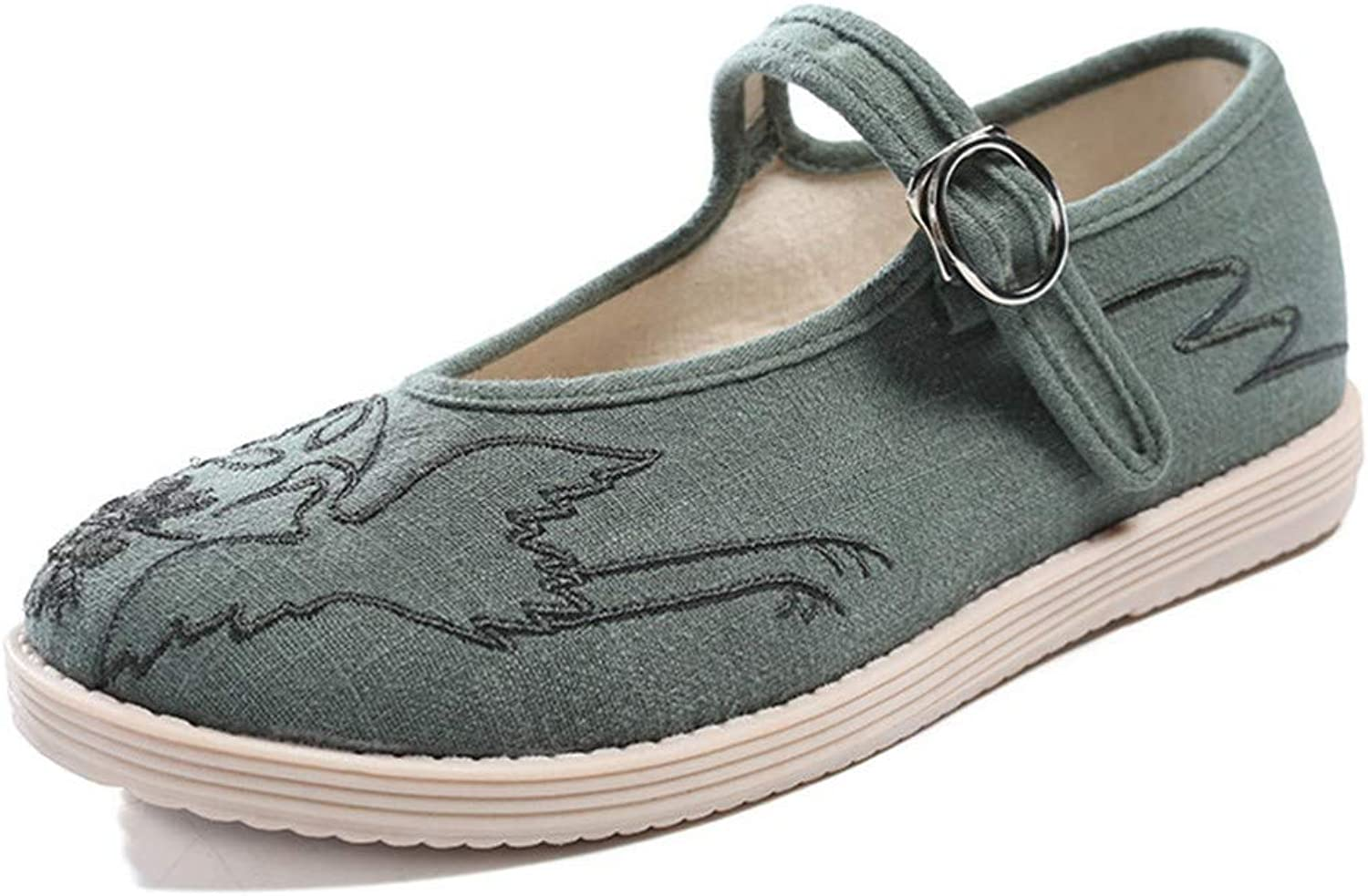 Cloth shoes, Women's shoes, Embroidered shoes, Dancing shoes-YU&Xin