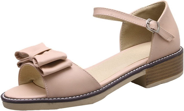 AmoonyFashion Women's Open-Toe Low-Heels Solid Sandals, BUTLT006739