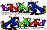 Keep on Truckin' Right & Left 10' x 3.5' Decals