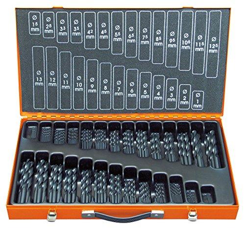 Projahn Bohrer Magazin HSS-R 220-teilig, Durchmesser 1-13 mm um 0,5 steigenddazu Durchmesser 3,3-4,2 mm Eco 60700