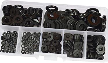 Nylon Flat Round Washer Clear Plastic Spacer Countersunk Thickness Fender Gasket Ring for Screw Standard Fastener Hardware Tool M2 M2.5 M3 M4 M5 M6 M8 Assortment Kit Set Assorted SAE Black 350pcs