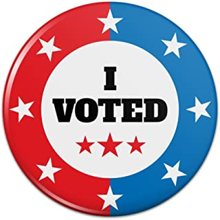 I Voted Red White Blue Patriotic Pinback Button Pin Badge