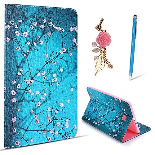 SpiritSun Custodia per Samsung Galaxy Tab E 9,6 (pollici) T560 Modalità Pelle Sintetica Astuccio Cover-Stand Portafoglio con Pennino Capacitivo Aletta Magnetica Antiurto Taglio Bumper Copertura